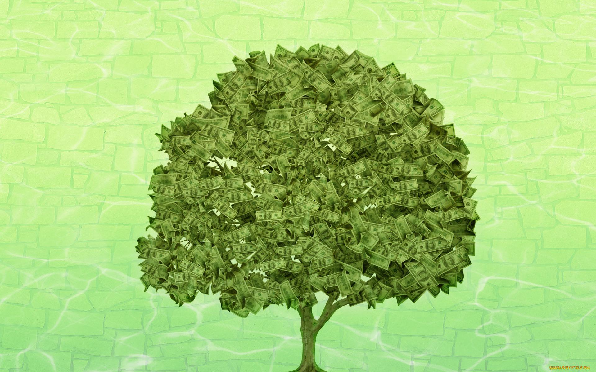 Рисованное денежное дерево
